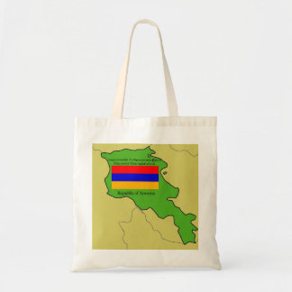 Map and Flag of Armenia Tote Bag