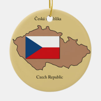 Map and Flag of Czech Republic  Ornament