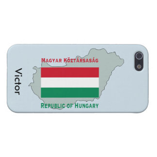 Map and Flag of Hungary iPhone 5 Cases