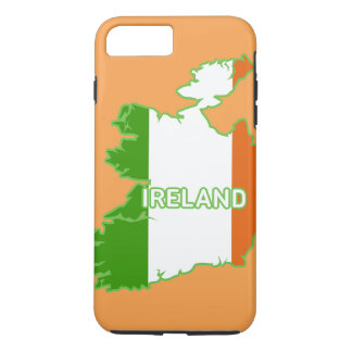 Map and Flag of Ireland iPhone 7 Plus Case