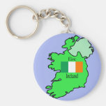 Map and Flag of Ireland Keychains