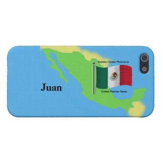 Map and Flag of Mexico Case For iPhone 5/5S