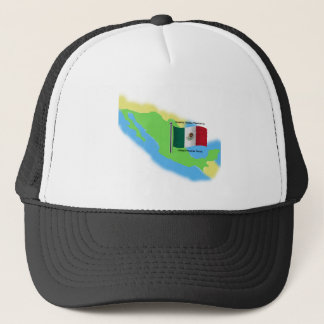 Map and Flag of Mexico Trucker Hat