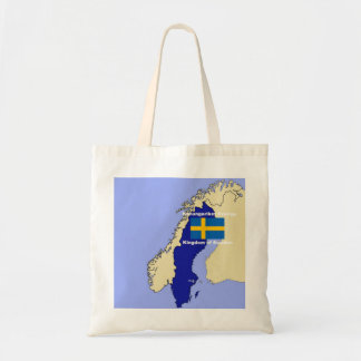 Map and Flag of Sweden Tote Bag