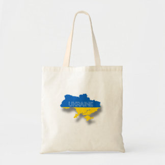 Map and Flag of Ukraine Tote Bag