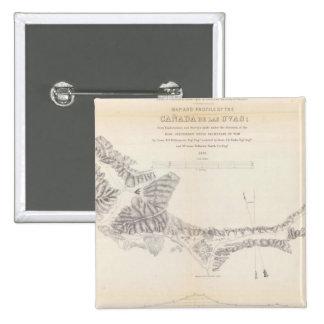 Map and Profile of Canada de las Uvas 15 Cm Square Badge