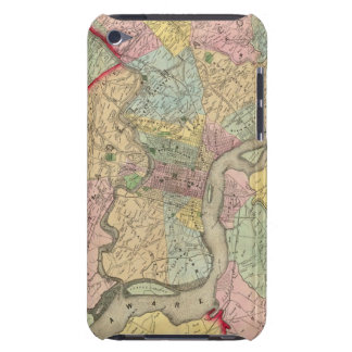 Map Around The City Of Philadelphia Barely There iPod Cases
