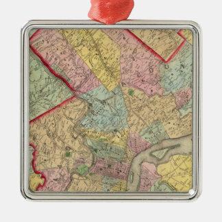 Map Around The City Of Philadelphia Christmas Ornament