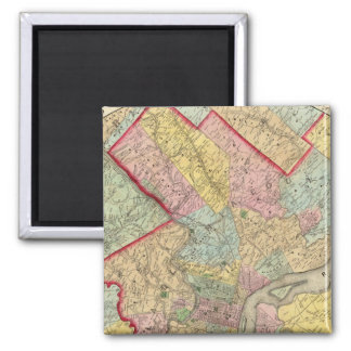 Map Around The City Of Philadelphia Magnet