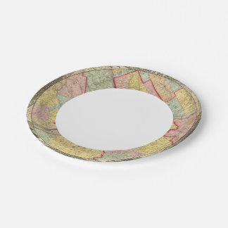 Map Around The City Of Philadelphia Paper Plate