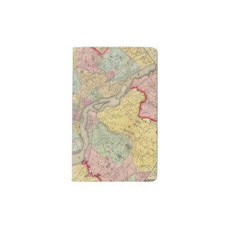Map Around The City Of Philadelphia Pocket Moleskine Notebook
