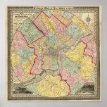 Map Around The City Of Philadelphia Poster