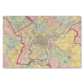 Map Around The City Of Philadelphia Tissue Paper