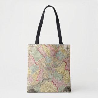 Map Around The City Of Philadelphia Tote Bag