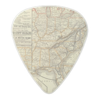 Map Atlantic Coast Line Acetal Guitar Pick