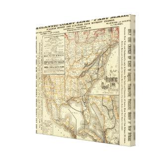 Map Atlantic Coast Line Canvas Print