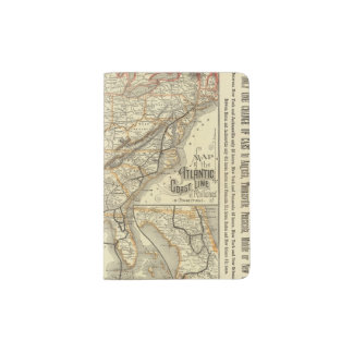 Map Atlantic Coast Line Passport Holder