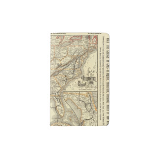 Map Atlantic Coast Line Pocket Moleskine Notebook