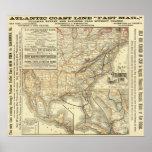 Map Atlantic Coast Line Poster