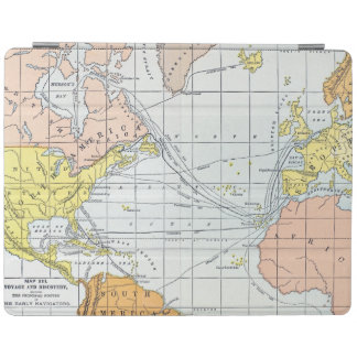 MAP: ATLANTIC VOYAGES iPad COVER