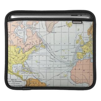 MAP: ATLANTIC VOYAGES iPad SLEEVE