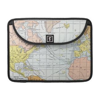 MAP: ATLANTIC VOYAGES SLEEVE FOR MacBook PRO
