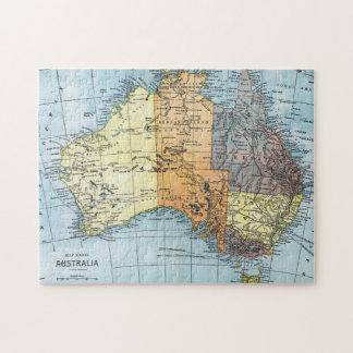 MAP: AUSTRALIA, c1890 Jigsaw Puzzle