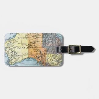 MAP: AUSTRALIA, c1890 Luggage Tag