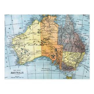 MAP: AUSTRALIA, c1890 Postcard