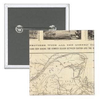 Map Boston and Maine Railroad 15 Cm Square Badge