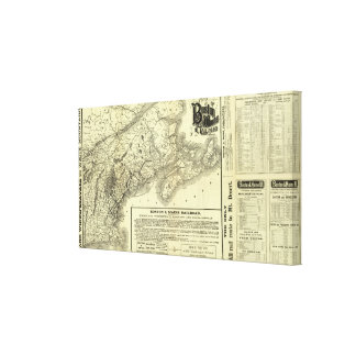 Map Boston and Maine Railroad 2 Canvas Print