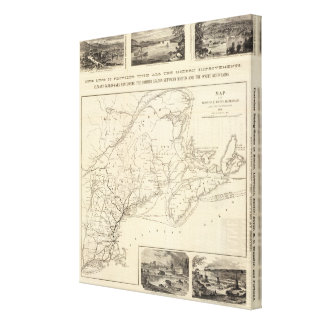 Map Boston and Maine Railroad Canvas Print