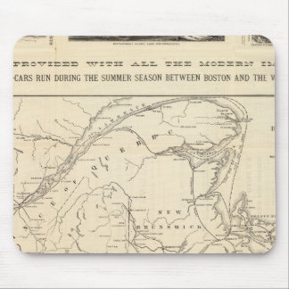 Map Boston and Maine Railroad Mouse Mat