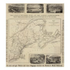 Map Boston and Maine Railroad Poster