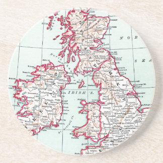 MAP: BRITISH ISLES, c1890 Coaster