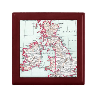 MAP: BRITISH ISLES, c1890 Gift Box