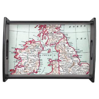 MAP: BRITISH ISLES, c1890 Serving Tray