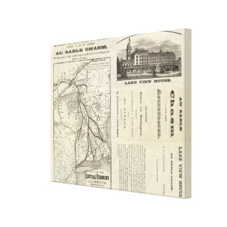 Map Central Vermont Railroad Canvas Print