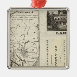 Map Central Vermont Railroad Christmas Ornament