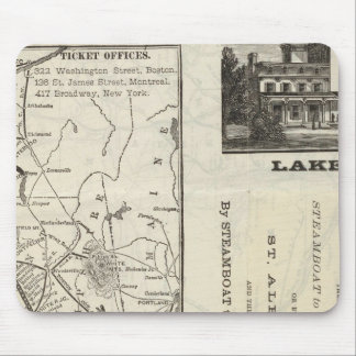 Map Central Vermont Railroad Mouse Pad