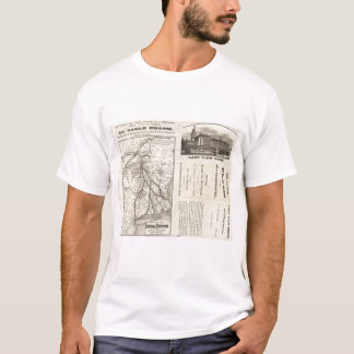 Map Central Vermont Railroad T-Shirt