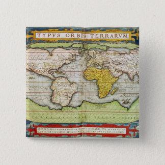 Map charting Sir Francis Drake's 15 Cm Square Badge