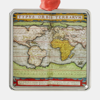 Map charting Sir Francis Drake's Christmas Ornament