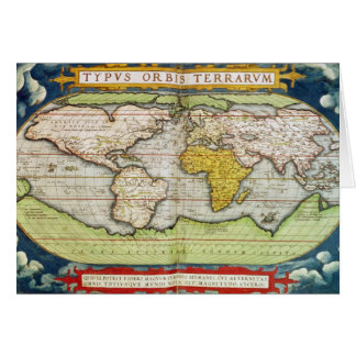 Map charting Sir Francis Drake's Greeting Card