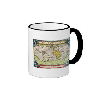 Map charting Sir Francis Drake's Coffee Mugs