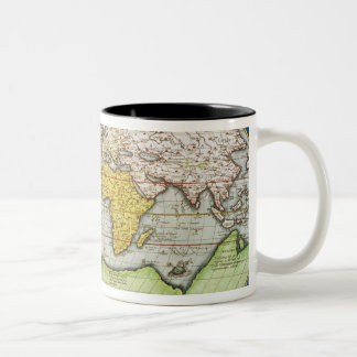 Map charting Sir Francis Drake's Two-Tone Mug