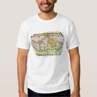 Map charting Sir Francis Drake's Tee Shirt