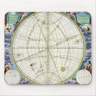 Map Charting the Movement of the Earth and Planets Mouse Mat