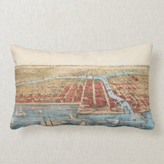 MAP: CHICAGO, c1857 Lumbar Cushion