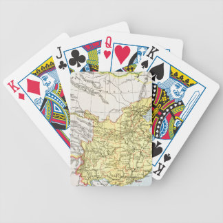 MAP: CHINA, 1910 BICYCLE PLAYING CARDS